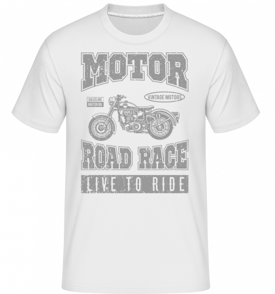 Motor Road Race - Shirtinator tričko pro pány - Bílá - Napřed