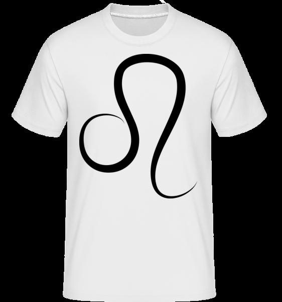 Leo Sign -  Shirtinator tričko pro pány - Bílá - Napřed