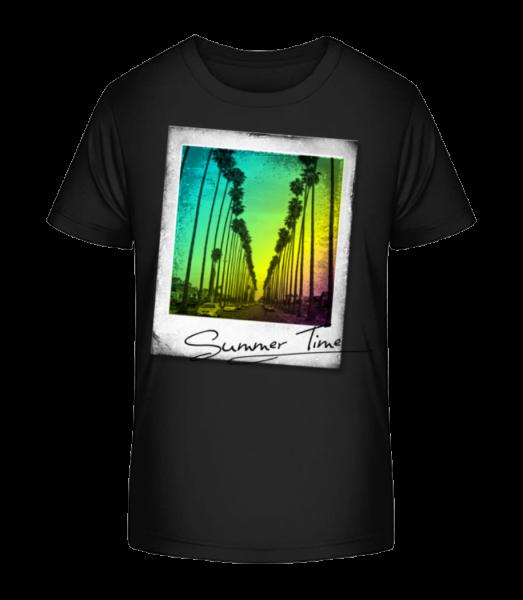 Letní čas - Detské Premium Bio tričko - Černá - Napřed