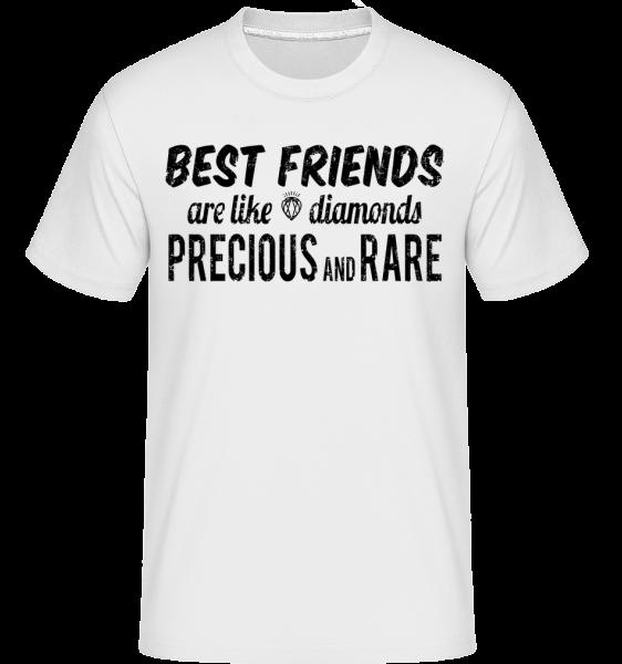 Best Friends Are Like Diamonds -  Shirtinator tričko pro pány - Bílá - Napřed