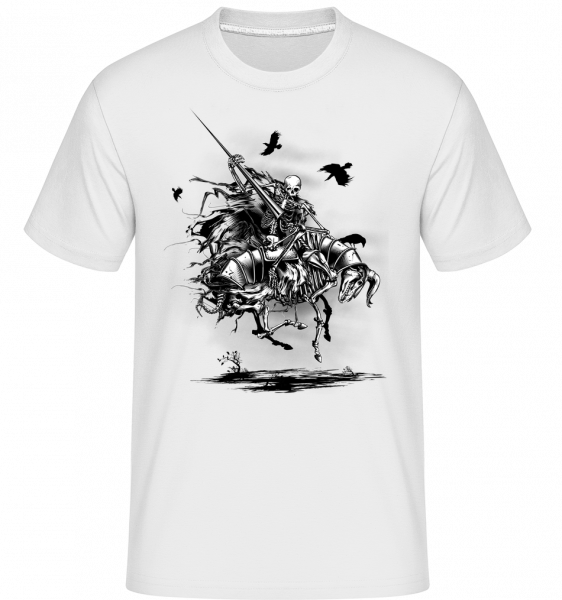 mrtvý Knight -  Shirtinator tričko pro pány - Bílá - Napřed