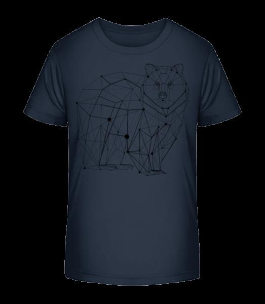 Polygon Bear - Detské Premium Bio tričko - Namořnická modrá - Napřed