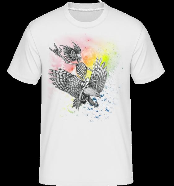 Death Flyer -  Shirtinator tričko pro pány - Bílá - Napřed