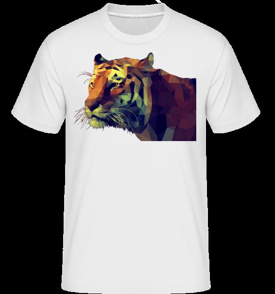 Polygone Tiger -  Shirtinator tričko pro pány - Bílá - Napřed