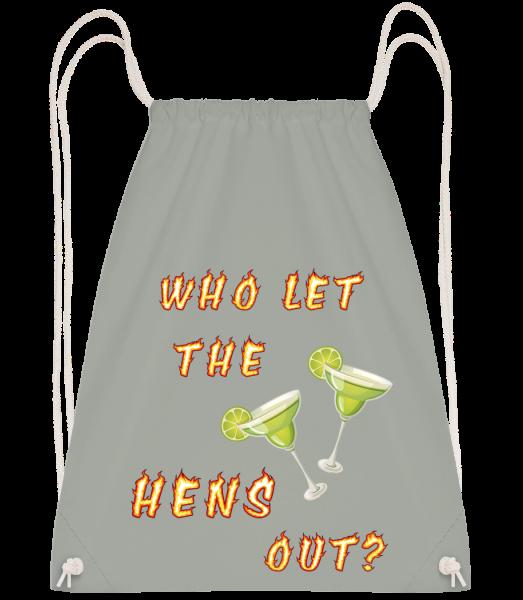 Who Let The Hens Out? - Drawstring batoh se šňůrkami - Antracit - Napřed