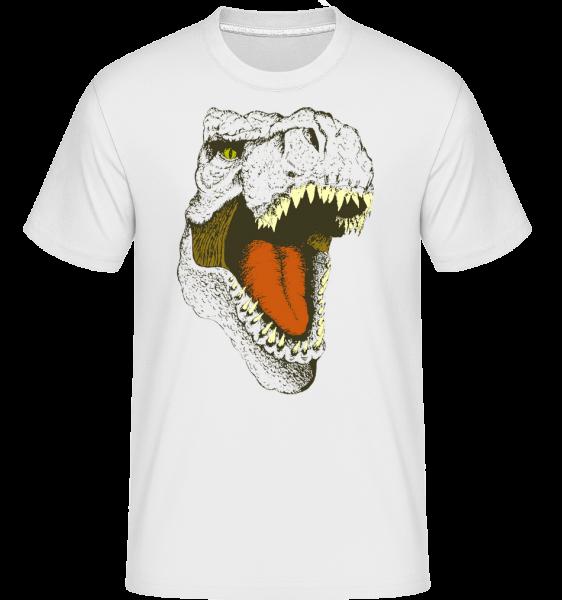 T-Rex Logo -  Shirtinator tričko pro pány - Bílá - Napřed