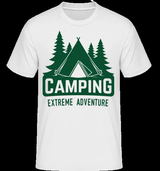 Camping Extreme Adventure -  Shirtinator tričko pro pány - Bílá - Napřed