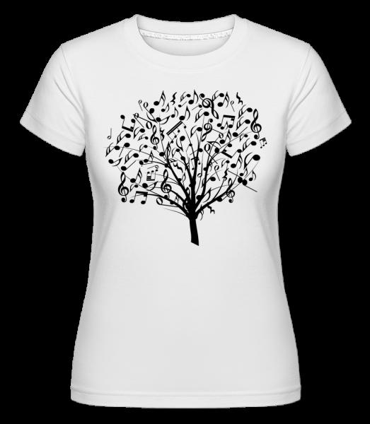 Music Tree -  Shirtinator tričko pro dámy - Bílá - Napřed