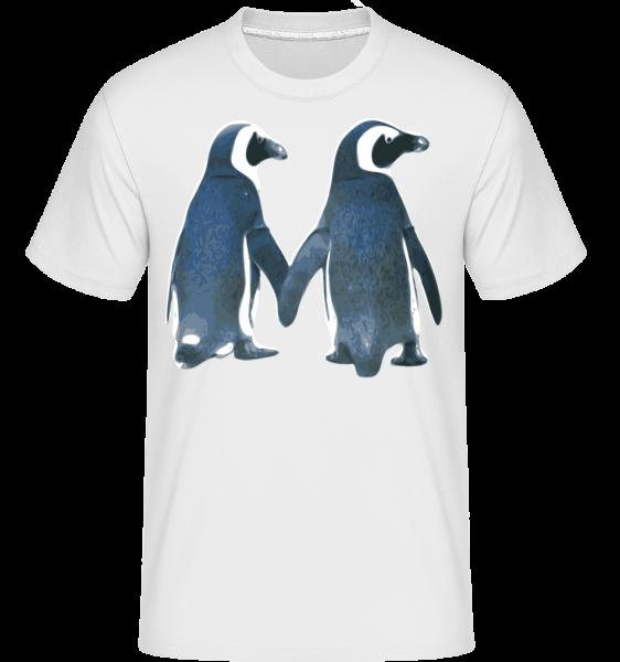 Penguin pár -  Shirtinator tričko pro pány - Bílá - Napřed