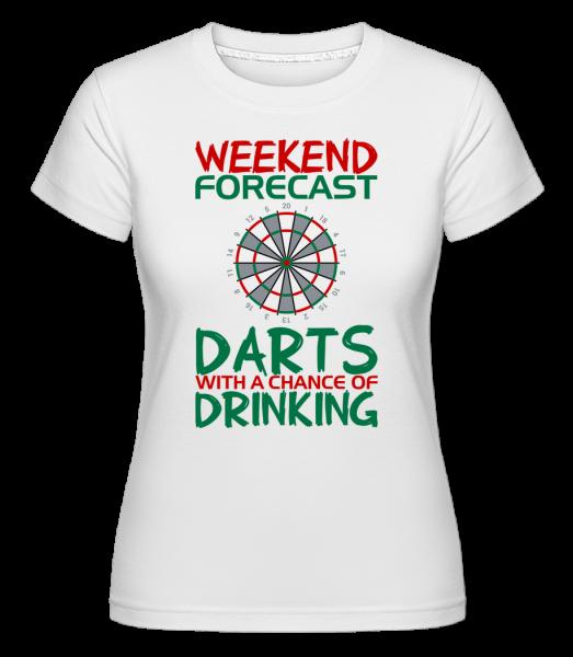 Víkend Šipky a pití -  Shirtinator tričko pro dámy - Bílá - Napřed