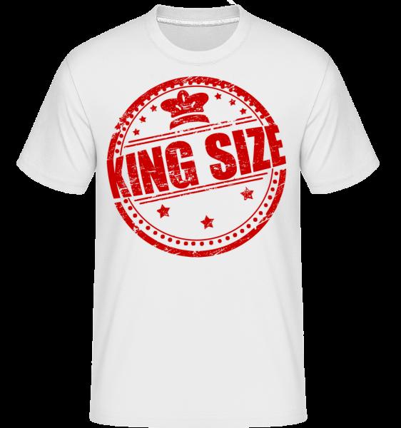 King Size Logo -  Shirtinator tričko pro pány - Bílá - Napřed