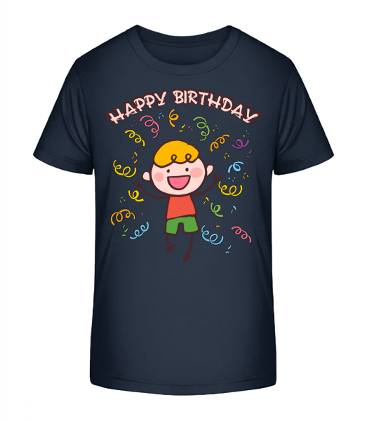 Happy Birthday Dance - Detské Premium Bio tričko - Namořnická modrá - Napřed