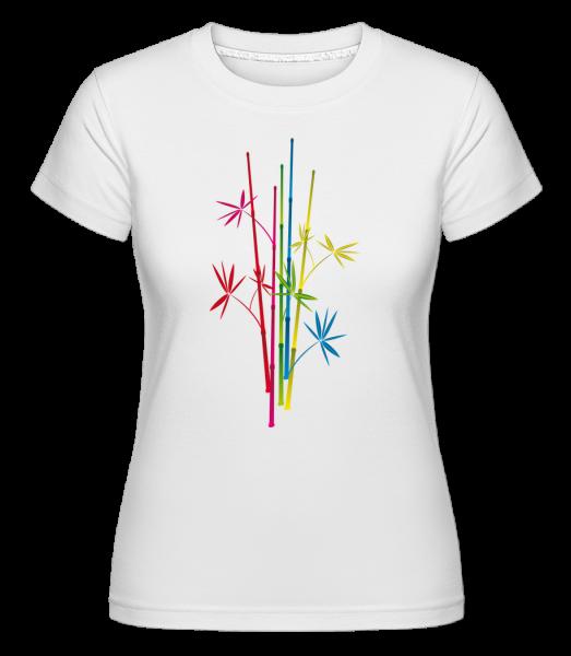 Bamboo Symbol -  Shirtinator tričko pro dámy - Bílá - Napřed