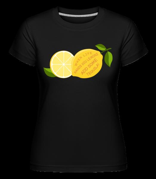 Lemon a Tequila -  Shirtinator tričko pro dámy - Černá - Napřed