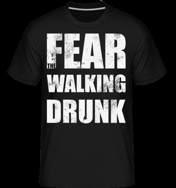 Bát Walking Drunk - Shirtinator tričko pro pány - Černá - Napřed