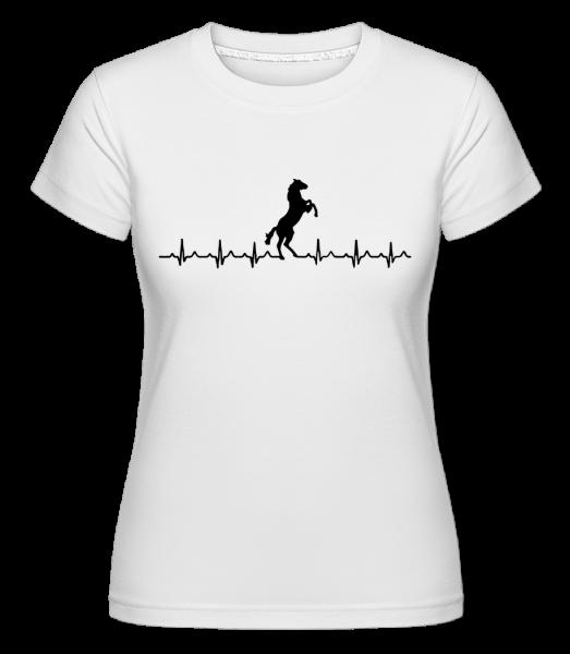 Horse Heartbeat - Shirtinator tričko pro dámy - Bílá - Napřed