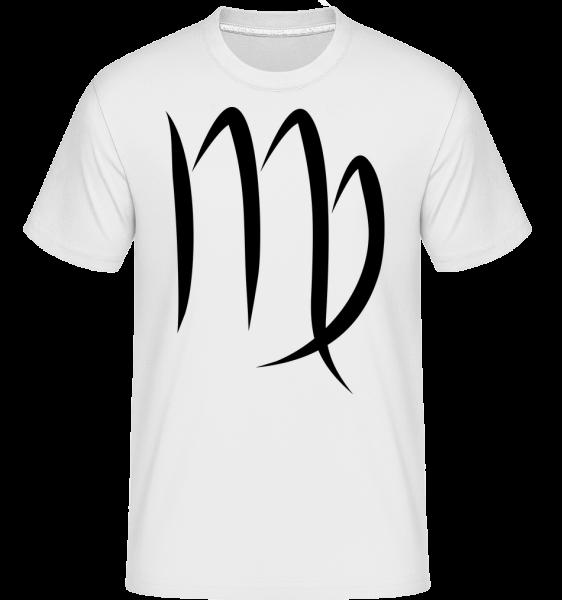 Virgo Sign -  Shirtinator tričko pro pány - Bílá - Napřed