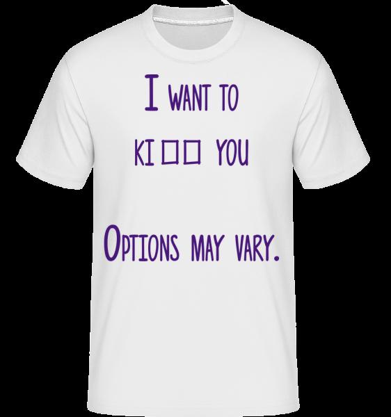 Možnosti se mohou lišit -  Shirtinator tričko pro pány - Bílá - Napřed