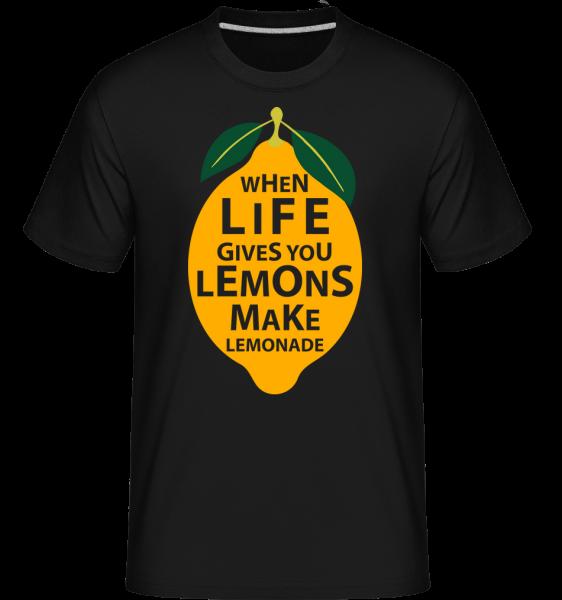 Když život vám dává citrony -  Shirtinator tričko pro pány - Černá - Napřed