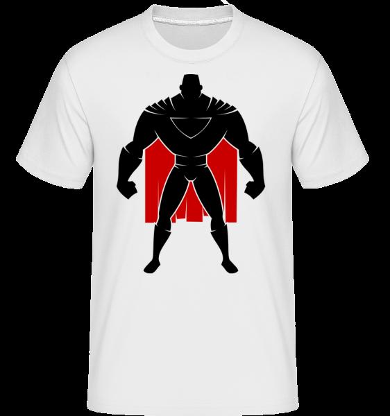 Superman Silhouette Cape -  Shirtinator tričko pro pány - Bílá - Napřed