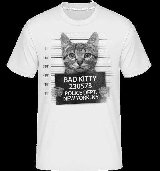 trestní Cat -  Shirtinator tričko pro pány - Bílá - Napřed