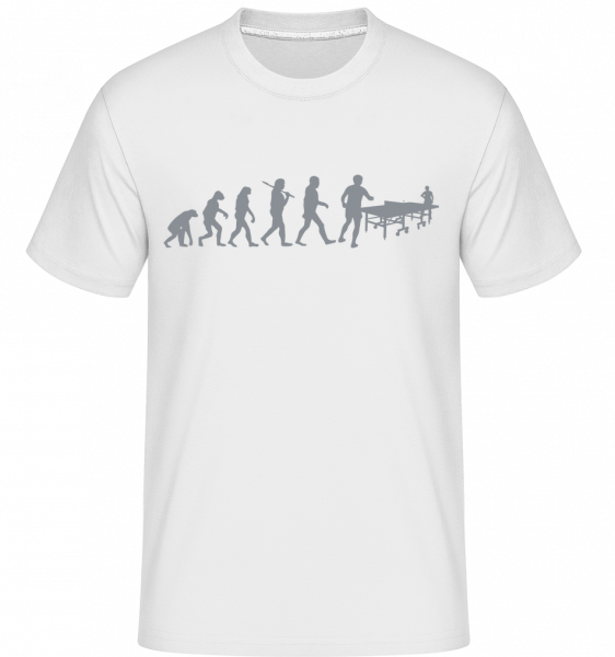 Evolution Of Table Tennis -  Shirtinator tričko pro pány - Bílá - Napřed