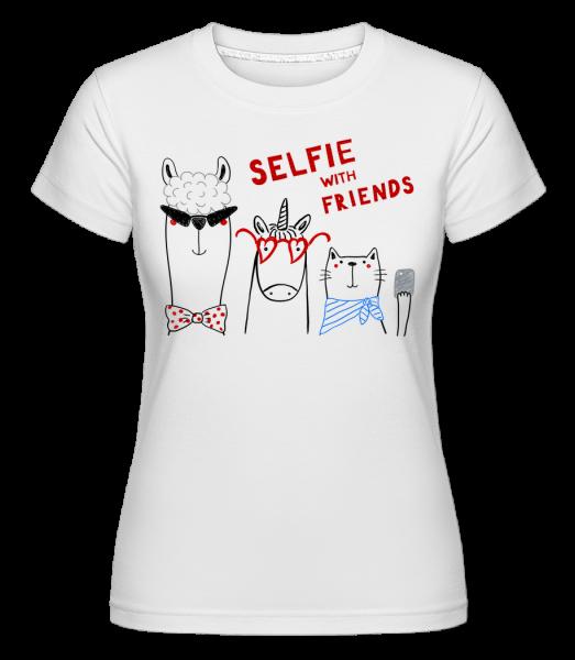 Chrliči s přáteli -  Shirtinator tričko pro dámy - Bílá - Napřed