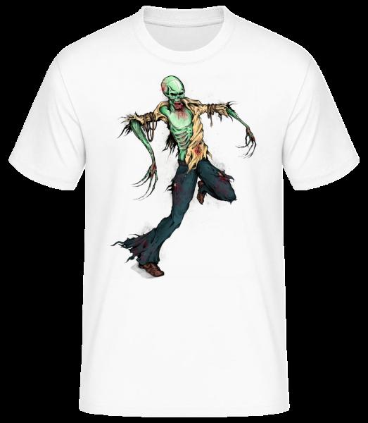 Creepy Zombie - Pánské basic tričko - Bílá - Napřed