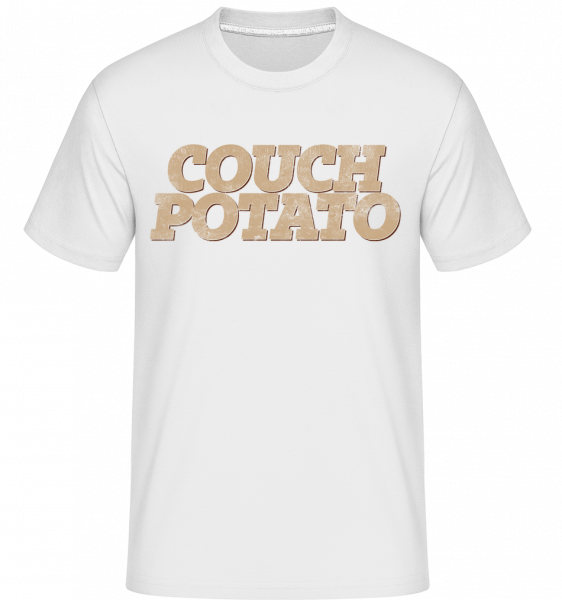 Couch Potato -  Shirtinator tričko pro pány - Bílá - Napřed
