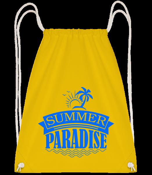 Summer Paradise Blue - Drawstring batoh se šňůrkami - Žlutá - Napřed