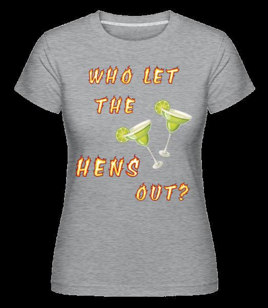Who Let The Hens Out? - Shirtinator tričko pro dámy - Melirovĕ šedá - Napřed