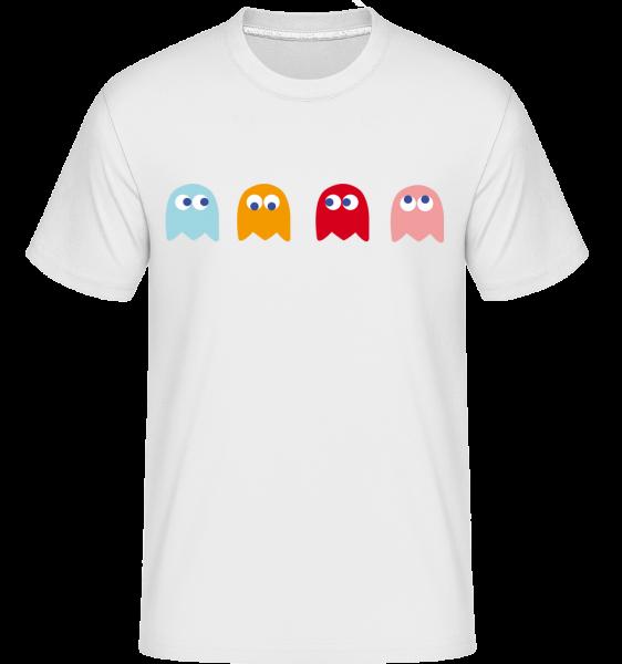 Computer Game Monster -  Shirtinator tričko pro pány - Bílá - Napřed