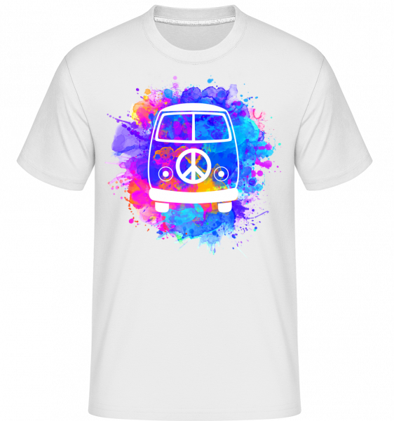 hippie Bus -  Shirtinator tričko pro pány - Bílá - Napřed