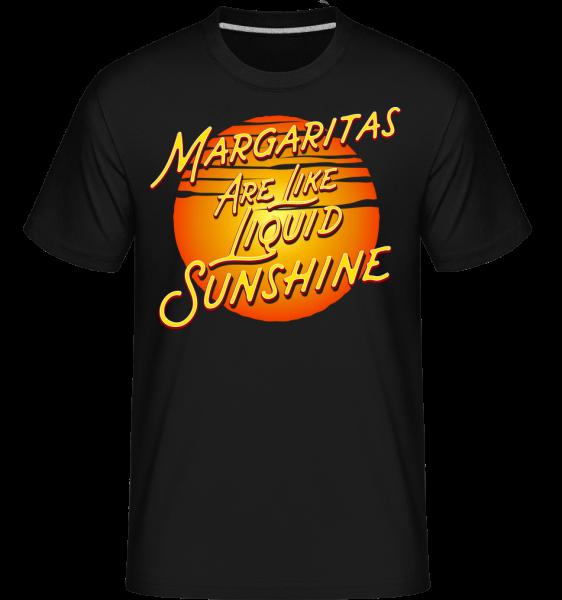 Margaritas Are Liquid Sunshine -  Shirtinator tričko pro pány - Černá - Napřed