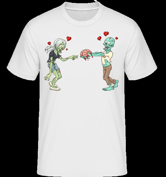Zombies In Love -  Shirtinator tričko pro pány - Bílá - Napřed