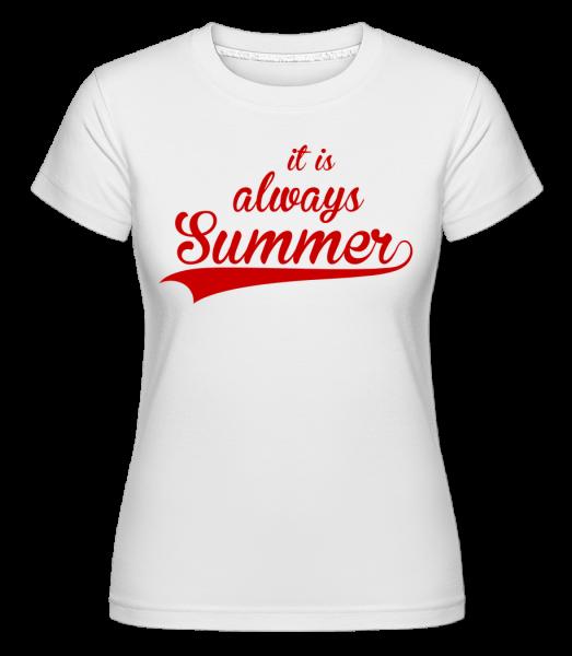Always Summer Icon -  Shirtinator tričko pro dámy - Bílá - Napřed