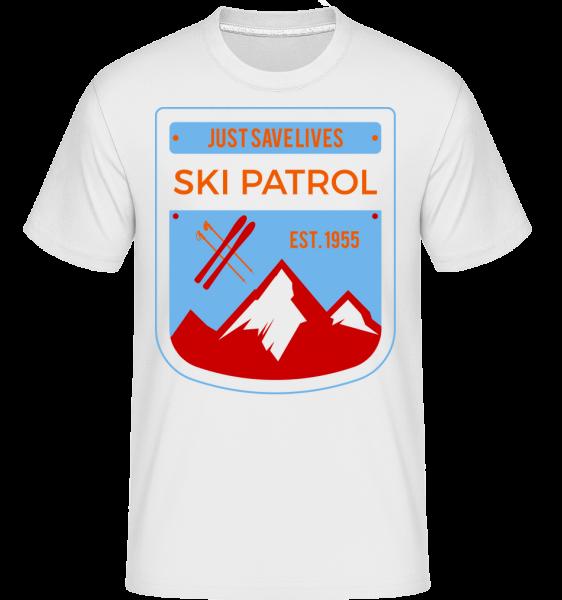 Ski Patrol Sign -  Shirtinator tričko pro pány - Bílá - Napřed