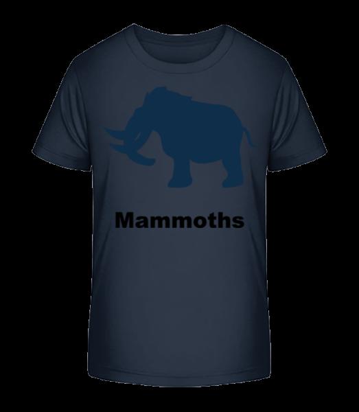 mamuti - Detské Premium Bio tričko - Namořnická modrá - Napřed