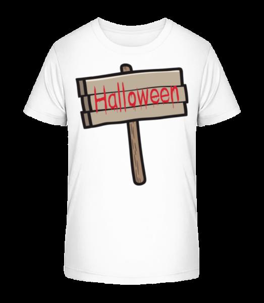 Halloween Sign - Detské Premium Bio tričko - Bílá - Napřed