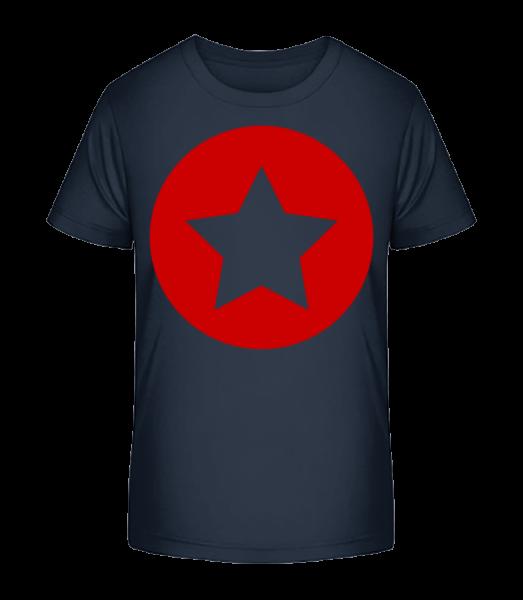Star Icon Red - Detské Premium Bio tričko - Namořnická modrá - Napřed
