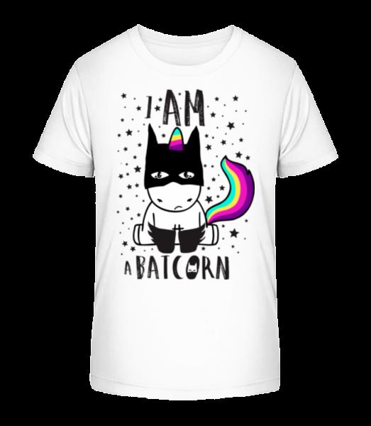 Jsem Batcorn - Detské Premium Bio tričko - Bílá - Napřed
