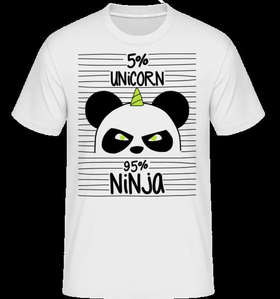 Unicorn Ninja -  Shirtinator tričko pro pány - Bílá - Napřed