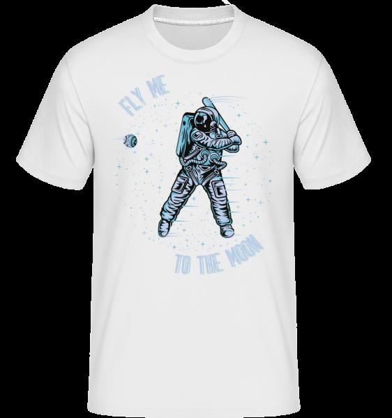 Fly Me To The Moon -  Shirtinator tričko pro pány - Bílá - Napřed