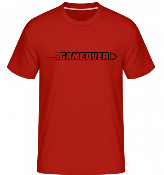 Game Over Simple Sign -  Shirtinator tričko pro pány - Červená - Napřed