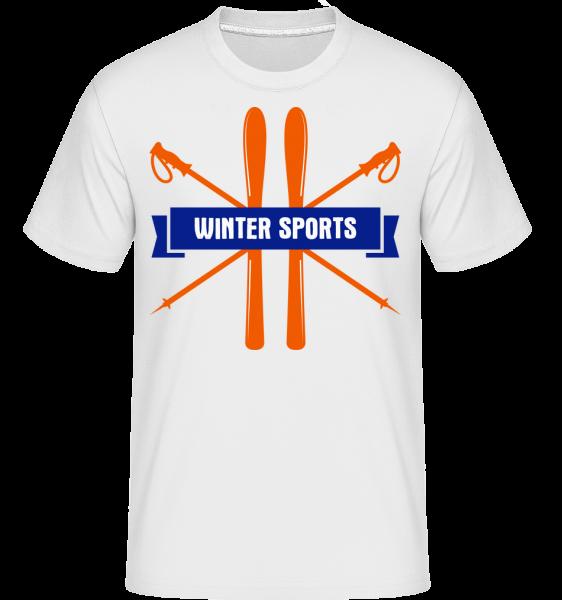 Winter Sports Sign -  Shirtinator tričko pro pány - Bílá - Napřed