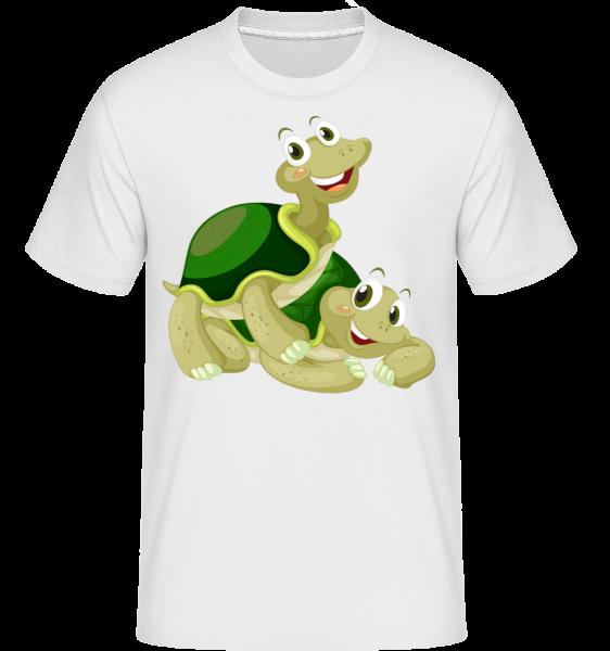 šťastné želvy - Shirtinator tričko pro pány - Bílá - Napřed