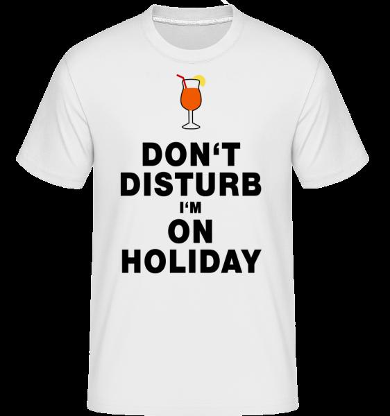 Nerušit, že jsem na dovolené - Cocktail -  Shirtinator tričko pro pány - Bílá - Napřed