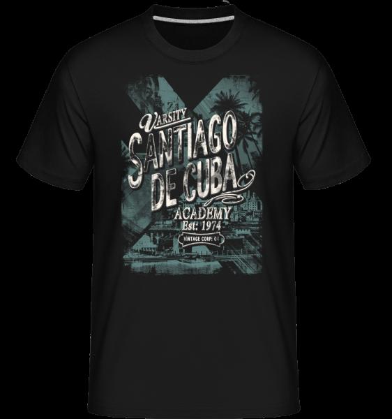 Varsity Santiago De Cuba -  Shirtinator tričko pro pány - Černá - Napřed