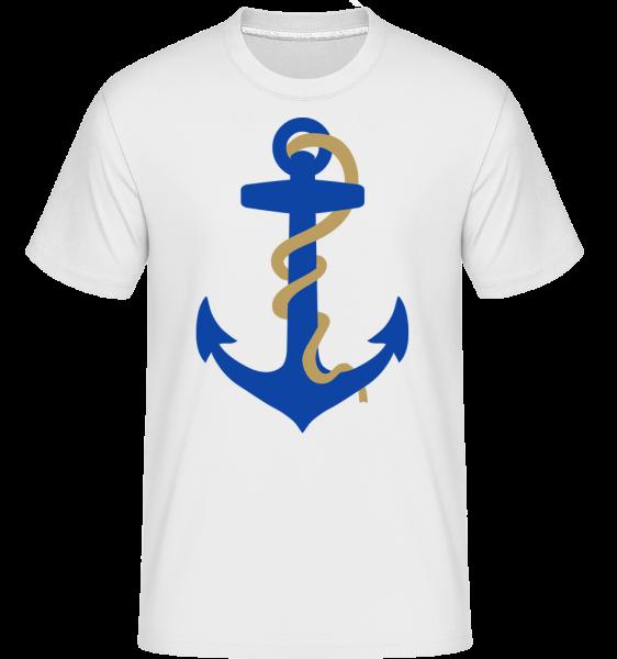 Kotva s lanem - Shirtinator tričko pro pány - Bílá - Napřed