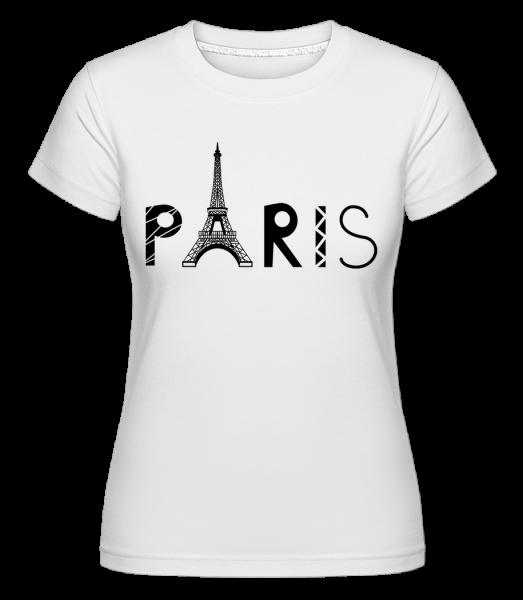 Paris France -  Shirtinator tričko pro dámy - Bílá - Napřed